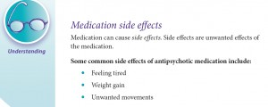The BC Early Psychosis Intervention explanation of antipsychotic side effects.